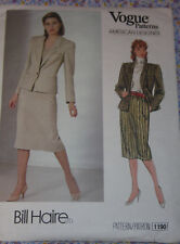 UNCUT Vintage VOGUE 1190  Jacket & Skirt - Sz 10 - Designer Bill Haire   (58)