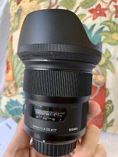 Sigma 24mm f/1.4-16 Lens for Nikon