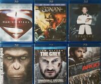 Bluray Lot of 6 Movies: Conan Man of Steel Spectre Argo The Grey Planet Apes A2