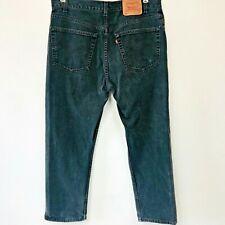 Vintage Levis 505 Jeans 38x30 actual 37x29 Black Regular Fit Straight Leg P10