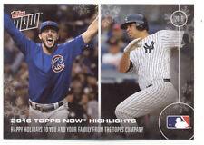 Kris Bryant/Gary Sanchez/Ichiro/David Ortiz Topps Now 2016 Happy Holidays Card
