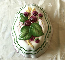 Vintage 1986 Le Cordon Bleu Franklin Mint summer blackberry gelatin jelly mold