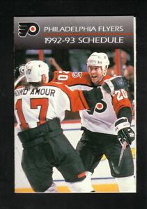 Philadelphia Flyers--Rod Brind'Amour--Kevin Dineen--1992-93 Pocket Schedule