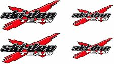 SKI-DOO Team-X Logo / RED / 4 Pack Vinyl Vehicle Snowmobile Graphic Decal Set