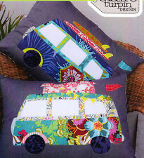 PATTERN - Free Campin' - cute applique pillow PATTERN - Claire Turpin