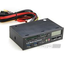 Pannello Multifunzione Lettore Scheda Interna Per PC USB e-SATA Nuovo