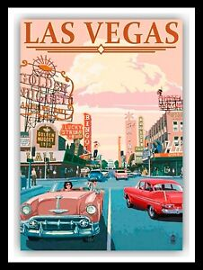 Las Vegas, retro vintage style metal sign/Plaque Gift