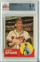 1963 Topps  #320 Warren Spahn BRAVES BVG 8.5 NM-MT+ Z11973 - BVG NmMt+ (8.5)