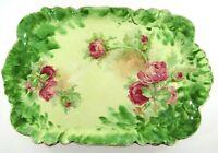 Vintage Warwick China Hand Painted Vanity/Dresser Tray Shabby Chic Roses Pretty