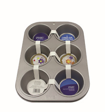 PME Non Stick 6 CUP LARGE MUFFIN Cake Baking Pan Tin Tray Bakeware