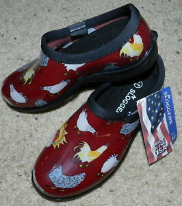Sloggers NWT Waterproof Shoes - Chicken Print COMFORT- 6 M New w/Tags $33 Retail