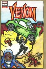 Venom #1-2018 nm+ 9.6 BLANK VARIANT w/ Original Art Brad Harris Action Comics #1