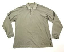 Woolrich Long Sleeve Polo Shirt Men's Size Medium