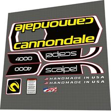 Cannondale Scalpel 4000 Volvo Frame Decal Set