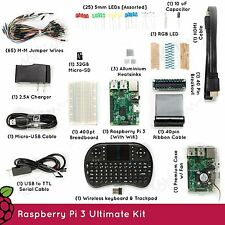 Raspberry Pi 3 Ultimate Starter Kit | Keyboard, 32gb SD Card, with Case | USA