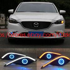 For Mazda 6 M6 Atenza LED Daytime Running Lights DRL fog lights+Angel Eyes Kit