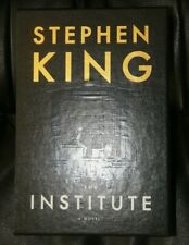 STEPHEN KING THE INSTITUTE BLUE W/GOLD FOIL STAMPED SLIPCASE CEMETERY DANCE