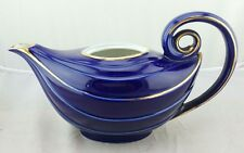 Hall Aladdin Teapot beautiful cobalt blue & gold 6 cup 06.63R USA (R