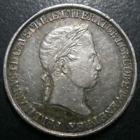 Italy Lombardy-Venetia medalet - Coronation Ferdinand I of Austria 1838 - 18.8mm