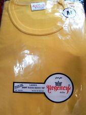 Nos Vintage 1970s Zees Tees Pastel Yellow Summer Skivvy T Shirt Top Boho Mod M