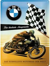 BMW Racing Bike large embossed steel wall sign 400mm x 300mm (na)