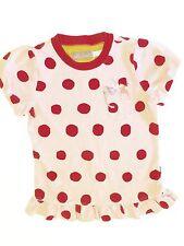 Little Joules Girls' Polka Dot Shirt w/ Cute Pocket Stuffed Animals Pic. Size 5