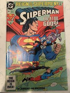 SUPERMAN NO.82 REIGN OF THE SUPERMEN!,BACK FOR GOOD! # 30 OCT OCTOBER 1993,MINT