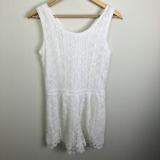 Urban outfitters Japna White lace romper size Medium