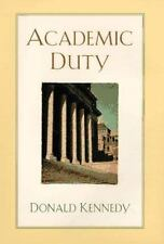 Academic Duty, Kennedy, Donald, Good Book