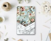 Grey Marble iPad 9.7 2018 Smart Cover Geometric Flowers iPad Pro 12.9 2017 Case