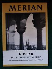 Merian Reiseführer Goslar Heft VII/2 1954 Rarität
