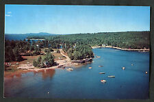 Dated 1963: Aerial View of White's Bridge, Sebago Lake, Maine, USA