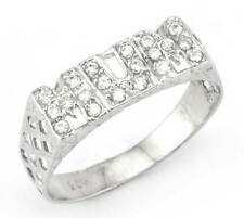 925 STERLING SILVER CUBIC ZIRCONIA CZ MUM MUMMY MOTHER RING BASKET BAND GIFT BOX