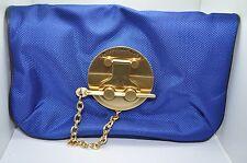 ANTEPRIMA NUEVE Royal Blue Nylon Folded Clutch Purse Evening Wristlet
