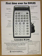 1975 Commodore SR-1400 Scientific Calculator photo vintage print Ad