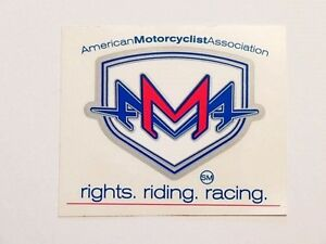 NOS AMA Decal - American Motorcycle Association - dirt bike - AHRMA - Vintage