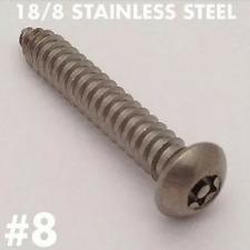 (25/pk) 8 x 1  Button Head Torx Tamper Proof Sheet Metal Screw 18-8 SS