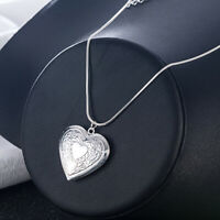 Wholesale 925 Sterling Silver Necklace Jewelry Heart Pendant For Women Girl Gift