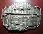 1989 Volunteer Firefighter Belt Buckle - Siskiyou Buckle Co.