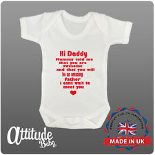Pregnancy Announcement Baby Grow-Hi Daddy Mummy Told Me Your Awesome-Baby Shower