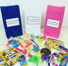 PERSONALISED CHILDRENS KIDS PARTY BIRTHDAY BAGS FAVOURS
