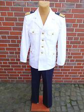 Bundeswehr Marine Uniform Sakko + Hose Gr.52 182-186cm Kostüm Kapitän Jacke weiß