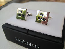 """New Van Heusen """"#1 Dad"""" Cufflinks, $52 Retail, A Perfect Father's Day Gift!"""