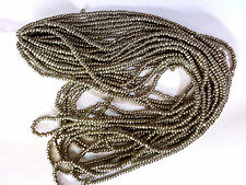 vtg 13/0 PEWTER CHARLOTTE GLASS BEADS hard to find TERRA COAT (durable)