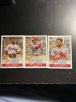 2019 Topps Update Bryce Harper 3 Card Lot Welcome to Philly Inserts Phillies