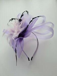Purple Hair Facinator Headband Large