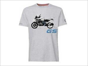 Genuine BMW Motorrad R 1200 GS Logo T-Shirt Top Round Neck Short Slv Small
