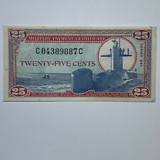25 Cents Military Payment Certificate MPC Series 681