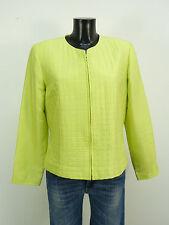 August Silk chaqueta GR 40/verde & 100% seda-como nuevo (m 7332)