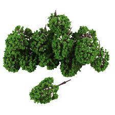 "20Pcs Artificial Plastic Green Leaf Model Tree 9.5cm 3.7"" High 1:100"